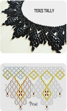 Free openwork beaded collar pattern by anna anchik martynov featured in bead patterns com newsletter – ArtofitBest Seed Bead Jewelry 2017 Free pattern for beaded necklace Galaxy Bead Jewellery, Seed Bead Jewelry, Jewelry Making Beads, Beading Jewelry, Jewelry Findings, Gold Jewelry, Jewlery, Bead Loom Patterns, Beading Patterns