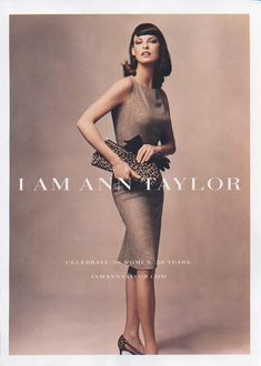 Linda Evangelista photographed by Annie Leibovitz for Ann Taylor Fall/Winter 2004 Ad Campaign.