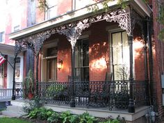 Ornate Cast Iron Front Porch, Jackson Ward, Richmond, Virginia, by Richmond City government, via Flickr