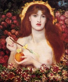 Painter: Dante Gabriel Rossetti  Title: Venus Verticordia  Date: 1868