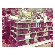 There is library that was built during the protest and protected from surreal attacks of the cops #OccupyGezi