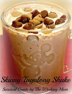 "Skinny Tagalong ""Girl Scout Cookie"" Shake (only 96 calories!)"