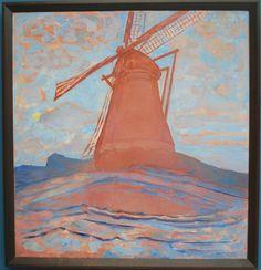 molen 1917 piet mondriaan Mondrian, Claude Monet, Windmill, Fine Art, Landscape, Pictures, Painting, Photos, Painting Art
