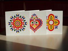 Sada tří přáníček SLOVÁCKÉ MOTIVY Playing Cards, Sad, Cards, Game Cards, Playing Card