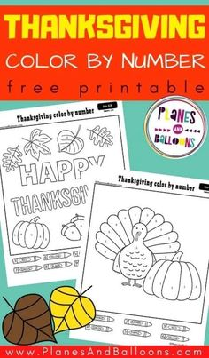 Free printable Thanksgiving color by number 1-10 for preschool - preschool Thanksgiving worksheets for learning numbers. #prek #planesandballoons Learning Numbers Preschool, Number Sense Kindergarten, Printable Preschool Worksheets, Preschool Activities, Happy Thanksgiving Sign, Thanksgiving Worksheets, Thanksgiving Preschool, Number Recognition Activities, Color By Number Printable