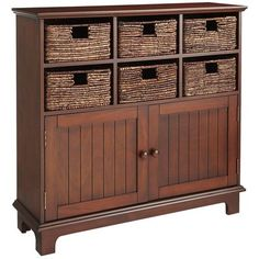 I LOVE this for the entry!  Can we build it...instead of paying $400?  :)  Holtom Storage Cabinet - Chestnut Brown