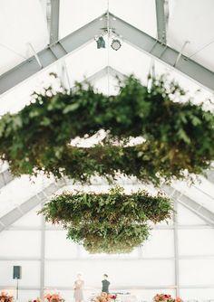 Wedding & Party Ideas | 100 Layer Cake Green Wedding, Floral Wedding, Wedding Colors, Wedding Flowers, Flower Installation, Woodland Wedding, Nordic Wedding, Wedding Ceiling, Marquee Wedding
