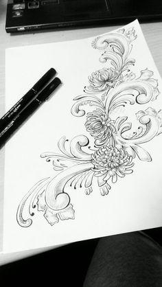 Norsk rosemaling design