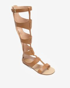 cca79b80a1ae Sigerson Morrison Knee High Gladiator Sandal  Tan
