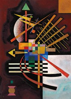 The pioneer of abstract art, Wassily Kandinsky considered that music is the ultimate teacher. So he paintted it in various compositions, Printable Wall Art - Wassily Kandinsky Oben und links Verschleiertes gluhen Print sizes x x x x Please, Art Kandinsky, Wassily Kandinsky Paintings, Abstract Expressionism, Abstract Art, Abstract Landscape, Art Conceptual, Fine Art Prints, Canvas Prints, Canvas Art