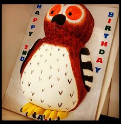 The gruffalo owl birthday cake :) Want to make this! Owl Cake Birthday, Birthday Ideas, The Gruffalo, Party, Desserts, How To Make, Food, Tailgate Desserts, Fiesta Party