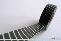 Black and White Pinstripe Washi Tape / Masking Tape - 10m