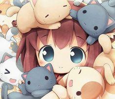 #gatos #animegirls