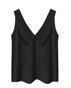 Women's Sleeveless Black Blouse Yellow Blouse, Black Blouse, Crop Blouse, Sleeveless Blouse, Collars For Women, Boyfriend T Shirt, Red Blouses, Sexy Legs, Basic Tank Top