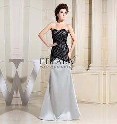 Winter/Spring/Fall Ladies Sexy&Beautiful Elegant Simple Silver And Black Satin Trumpet/Mermaid Floor Length Sweetheart/Strapless Long Evening Dresses/Prom Dresses/Wedding Guest Dresses With Diamond Tulle