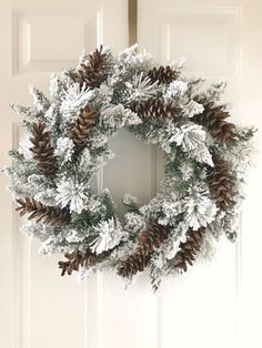 Diy Christmas Wreath For Front Door 28 Ideas Christmas Wreaths For Front Door, Christmas Ornament Wreath, Christmas Swags, Burlap Christmas, Christmas Mantels, Elegant Christmas, Holiday Wreaths, Christmas Decorations, Winter Wreaths