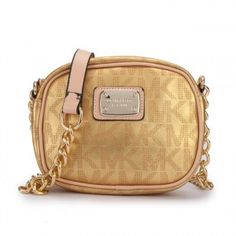 51b59c53fb Michael Kors Jet Set Signature PVC Small Gold Crossbody Bags Is Extremely  Fashionable With Best Quality And Service!