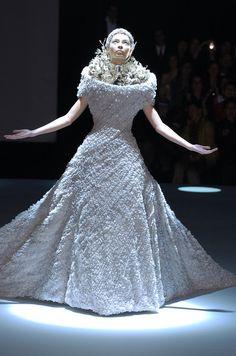 "Alexander McQueen's ""Black"" Fashion Show in London."