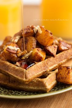 Eating Clean: Apple Pie Protein Waffles