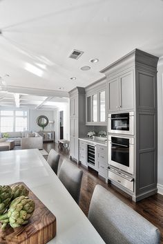 Grey Kitchen Design - Home Bunch  Interior Design Ideas