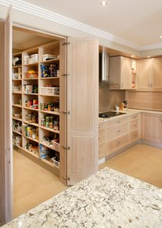 Glamorous Walk In Pantry Ideas Decor Ideas in Kitchen Contemporary design ideas with Glamorous butlers pantry glass display glass doors glass splashback island Limed American Oak