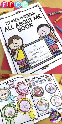 FREE Back to School All About Me with 3 Student Writing Templates and a Free-Writing Page! Enjoy getting to know your students with this fun back to school activity!