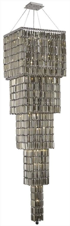 Maxim 22 Light Golden Teak (Smoky) Chandelier in Chrome Finish 2032G80C-GT/SS