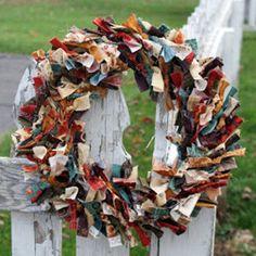 Rustic Fabric Wreath | FaveQuilts.com