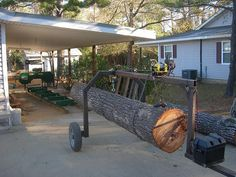 homemade log loading apparatus for the Woodland Mills Sawmill