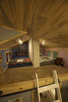 20 Most Popular Tiny House Loft Bedroom Kids Tiny Loft, Tiny House Loft, Tiny House Storage, Tiny House Plans, Tiny House Design, Shed To Tiny House, Tiny House Family, Tiny House Living, Living Room
