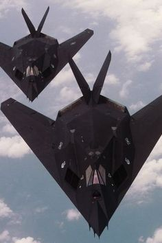 F-117 Nighthawks- Not really a car, but still hot :)