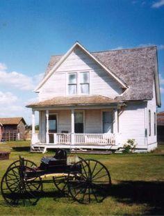 Old Farm House & Buggy