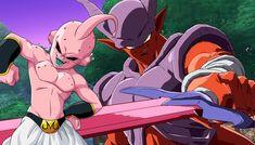 Bien que Dragon Ball Super ait revitalisé le travail d'Akira Toriyama, les méchants les plus emblématiques de la franchise sont toujours dans Dragon Ball Z, tant dans leurs sagas canoniques que dans leurs 15 films.  Deux de ces méchants sont Kid Buu et Janemba, qui ont récemment reçu une incroyable animation créée par l'artiste connu sous le nom de Devin Leduc, qui imaginait ce que serait une bataille entre ces deux forces maléfiques.    #DragonBall #DragonBallSuper Dragon Ball Z, Kid Buu, Goku E Vegeta, Akira, Animation, Fan, Character, Artists, Dragon Dall Z