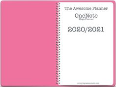 2020-2021 Mega OneNote Planner - Teacher Version - Pink An academic year digital planner/calendar/notebook for OneNote - (May 2020 - June 2021) This planner has everything you need to plan out your month, week and days.... It has monthly calendar pages, a monthly dashboard, weekly horizontal planning pages and weekly hourly schedule pages. Undated daily planning pages are in the bonus section for you to add in where needed. It's the biggest, most comprehensive planner I have ever released! This Calendar Notebook, Calendar Pages, Planner Pages, Planning Your Day, Daily Planning, Teacher Planner Free, One Note Microsoft, Teacher Notebook, Best Planners