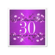 Shop Women's Birthday Blue Black Sparkly Diamond Paper Napkins created by TheBirthdayHub. Blue Birthday Parties, 80th Birthday, Party Napkins, Cocktail Napkins, Purple Diamond, Birthday Design, Ecru Color, Blue Ribbon, Birthday Party Invitations