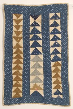 Wild Goose Chase Doll Quilt from Stella Rubin Antiques