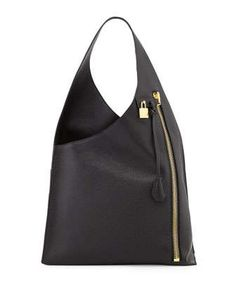 Alix Zip Hobo Bag, Black by Tom Ford at Neiman Marcus.