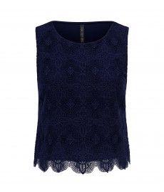 Sonia crochet front tank top
