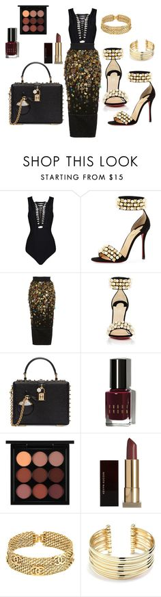 """""""Untitled #99"""" by cas199 on Polyvore featuring Christian Louboutin, Dolce&Gabbana, Bobbi Brown Cosmetics, MAC Cosmetics, Kevyn Aucoin, Chanel and Belk Silverworks"""