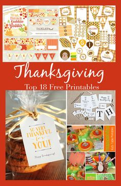 Top 18 Free Thanksgiving Printables