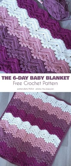 Easy textured baby blanket free crochet patterns make a striped baby blanket this would make a great gift for a boy or girl crochet baby blanket patterns a more crafty life crochet crochetpattern baby diy Poncho Crochet, Crochet Baby Blanket Free Pattern, Crochet Motifs, Crochet Afghans, Booties Crochet, Ripple Crochet Patterns, Baby Afghans, Crochet Stitches, Crochet Blanket Edging