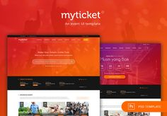 MyTicket is modern and freshly designed template for Ticketing Event Services. This theme including event detail, purchasing ticket, artist page, gallery, payment and various of homepages. Fully completed theme and ready for your event ticketing service. These PSD files are easy to customize, well layered and properly named.