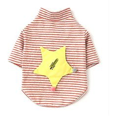 Fashion Stripe Pet Dog Long Sleeves Clothes Embroidered Blank Thermometer Cat Puppy Vest Tee * Want to know more, click on the image. (This is an affiliate link) #DogApparelAccessories