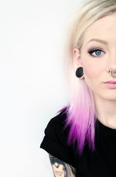 So pretty. Simple Septum Piercing in large gauge with Large stretched lobes. Shop for your piercing jewellery at www.karmase7en.com today.
