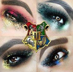 Von Harry Potter Houses inspiriertes Make-up! What is Makeup ? What's Makeup ? Generally, what's makeup … Harry Potter Make-up, Harry Potter Nails, Estilo Harry Potter, Mundo Harry Potter, Harry Potter Cosplay, Harry Potter Tumblr, Harry Potter Houses, Harry Potter Outfits, Harry Potter Pictures