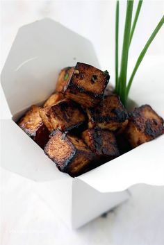 Sweet and spicy tofu vegan-vegan-vegan-food-food-food