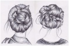 I used to draw hair for school, but because it's summer I don't draw anymore. Idk if I should start again. This was the type of hair that I drew. I think it looks beautiful♥