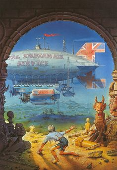 Cover art for Michael Moorcock's _The Warlord of the Air_ (Quartet, 1974) by Patrick Woodroffe