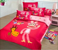 2014 Best Kids Cotton Bedding Sets 4pcs Cartoon Bedding set Cotton include Duvet Cover Bed sheet Pillowcase Cotton Bedding Sets, Paul Frank, Bed Sheets, Cool Kids, Comforters, Duvet Covers, Pillow Cases, Cartoon, Blanket