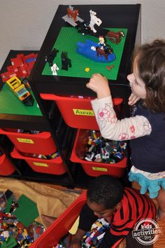 Are Lego's taking over your house?  Try this amazing Ikea Lego organization idea from Kids Activities Blog.